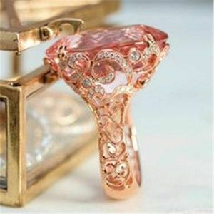 Gorgeous Rose Gold Filled  Pink Sapphire Ring New
